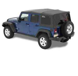2007 2014 Jeep Wrangler Unlimited Supertop Nx Soft Top With Sunroof Bestop Black