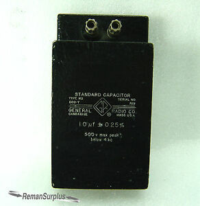 Gently Used General Radio 509 y Standard Capacitor 1 0 f 0 25 Tested