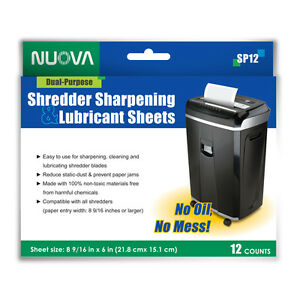 Nuova Shredder Sharpening Lubricant Sheets 12 Counts
