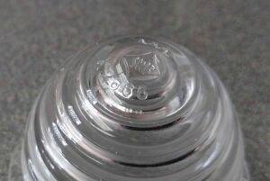 Brand New Swf Porsche 356a Clear Beehive Front Clear Plastic Turn Signal Lens