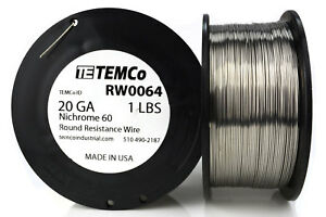 Temco Nichrome 60 Series Wire 20 Gauge 1 Lb 347 Ft resistance Awg Ga