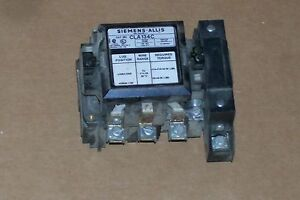 Siemens Cla134c 30 Amp 120v Contactor Open Used