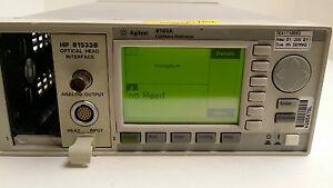 Hp Agilent 8163a Lightwave Multimeter Mainframe W hp81533b Optical Head Interfac