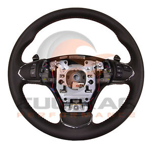 2005 2013 C6 Corvette Genuine Gm Leather Automatic Steering Wheel Red Stitching