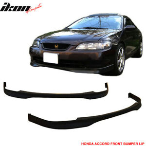 Fits 98 00 Honda Accord Coupe 2dr Tr Style Front Bumper Lip Pp Polypropylene