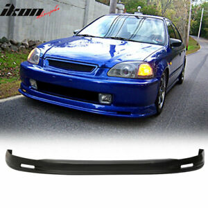 Fits 96 98 Honda Civic Ek Mugen Style Front Bumper Pp Lip Chin Spoiler Body Kit