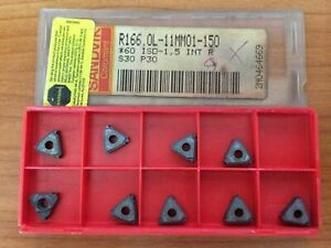Sandvik Coromant R166 ol 11mmo1 150 60 Iso S30 P30 Mill Lathe Carbide 9 Inserts