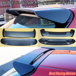 Tr Style Roof Spoiler Wing abs Fits 96 00 Honda Civic 3dr Hatch