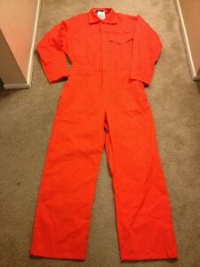 Workrite Guardian Coveralls 9 5 Indura By Westex Flame Resistant Size 46l Orange