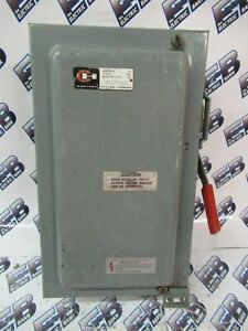 Cutler Hammer Dh361nd 30 Amp 600 Volt 3p4w Fusible Vintage Disconnect Os