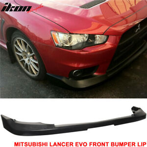 Fits 08 15 Lancer Evo X 10 Oe Factory Style Front Bumper Lip Unpainted pu