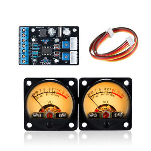 2pc Panel Vu Meter Amplifier Db Level Led Header Display Driver Board Module