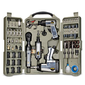 Trades Pro 71 Piece Air Tool And Accessories Kit With Storage Case 836668