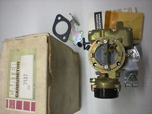 Nos Carter Yf 7137s Carburetor 1968 1973 Ford Trucks 240 300 Engine