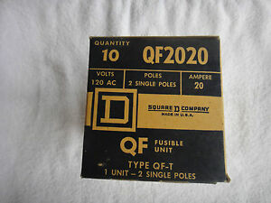 New Square D 20 Amp 120vac Circuit Breaker Box Of 10 Qf2020 Qf 2020