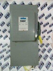Crouse Hinds As362j 60 Amp 600 Volt Fusible Disconnect W Hubbellock Plug Nema12