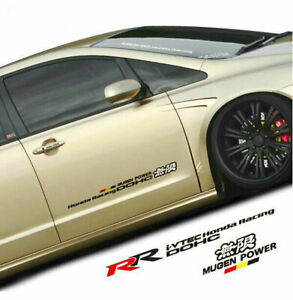 Car Modification Graphics Mugen Power Car Sticker Rr Decal Emblem For Honda