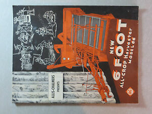 Allis Chalmers 6 Foot All crop Harvester Model No 66 Booklet