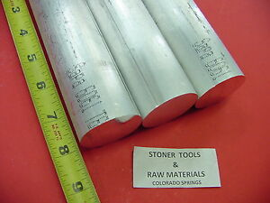 3 Pieces 1 5 8 Aluminum 6061 Round Rod 8 Long Solid Bar New Lathe Stock 1 625