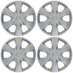 4pc Hub Cap Abs Silver 15 Inch For Oem Rim Wheel Skin Replica Cover Covers Caps
