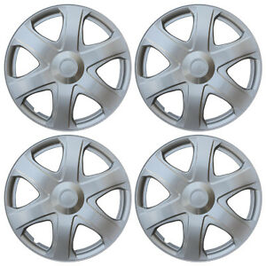 New Universal Set Of 4 Hubcaps Hub Cap Wheel Covers 2009 Toyota Matrix Replica
