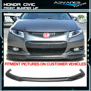 Fits 12 13 Honda Civic Coupe 2 Door Ikon Front Bumper Lip Chin Spoiler