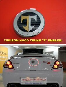 For 2003 2006 Hyundai Tiburon Coupe Hood Trunk T Emblem 2pcs 1set Genuine Parts