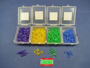 Dental Wedges Plastic With Hole All Sizes Assorted Kit 4 Box 400 Pcs Toscana