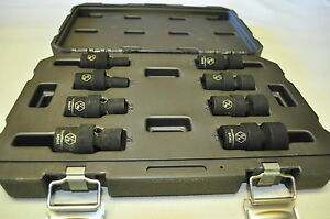 3 8 In Dr 6 Point Swivel Universal Flex Sae Fractional Impact Socket Set 8pcs Kd