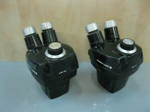 Lot Of 2 Bausch Lomb Stereo Zoom 0 7x 3 0x Microscope Head