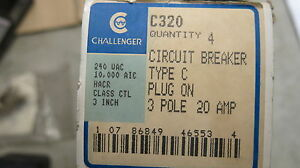 Challenger C320 3 Pole 20 Amp Circuit Breaker New