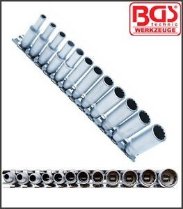 Bgs Sae Inch Deep Socket Set 12 Point Used On Harley S 12 Pcs 2757