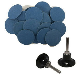 50 3 Roloc Zirconia Quick Change Sanding Disc 60 Grit And Mandrel