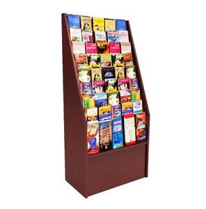 Literature Rack Travel Brochure Leaflet Holder Coupon Stand Attractions Display