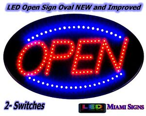 Open Led Neon Sign Led Animation On of 2 Switches Ultra Bright Led Display Sign