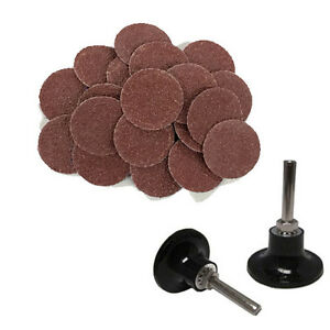 100 2 Roloc A o Quick Change Sanding Disc 24 Grit And Mandrel Disc Holder