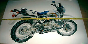 BMW GS MOTORCYCLE POSTER Schnittmodell Explosionszeichnung ca. 900mm x 600mm