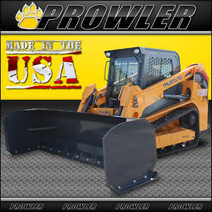 10 Extreme Duty Snow Pusher For Skid Steer Loaders 120 Inch Wide Attachment