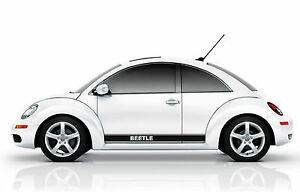 Vw Beetle Side Stripes Graphic Decals Rocker Panel Fits All Yrs Models