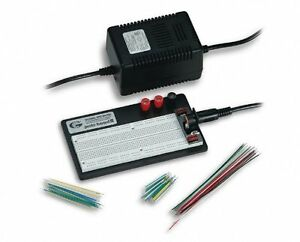 Global Specialties Pro s lab Breadboard With Power Adapter Jumper Wires