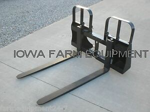 48 4200lb Euro alo global quickie Quick Attach Pallet Forks W walk Thru Frame