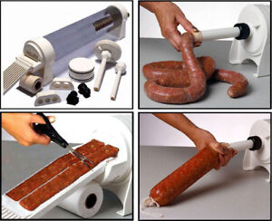 4 1l Sausage Stuffer Sausage Maker Meat Filler Machine Duel Speed Commercial