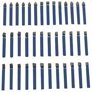 1 4 Carbide Tip Tool 38 Pc Set Lathe Tool Milling Cutting Tools Machinist