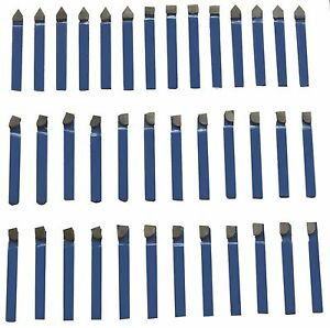 1 2 Carbide Tip Tool Bits 38 Pc Set Lathe Tool Milling Cutting Tools Turning