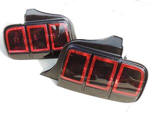 Custom 05 09 Ford Mustang Smoked Tail Lights Oem Painted 2013 Style Black