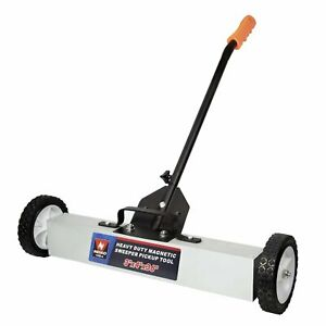36 Heavy Duty Magnetic Floor Sweeper Xl Wide Pick Up Roller Push Broom Tool