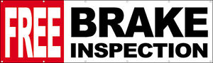 3x10 Ft Free Brake Inspection Vinyl Banner Auto Repair Shop Sign New