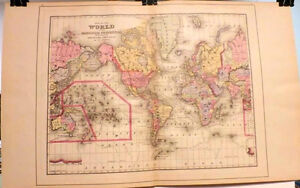 World Map The World On The Mercator Projection North America 1894