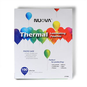 Nuova Premium Thermal Laminating Pouches 9 X 11 5 Letter Size 3 Mil 100 pack
