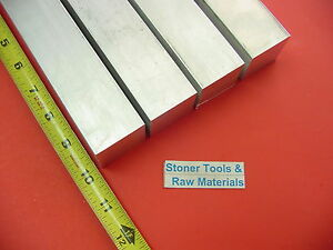 4 Pieces 1 1 4 x 1 1 4 Aluminum 6061 Square Bar 10 Long T6511 Flat Mill Stock